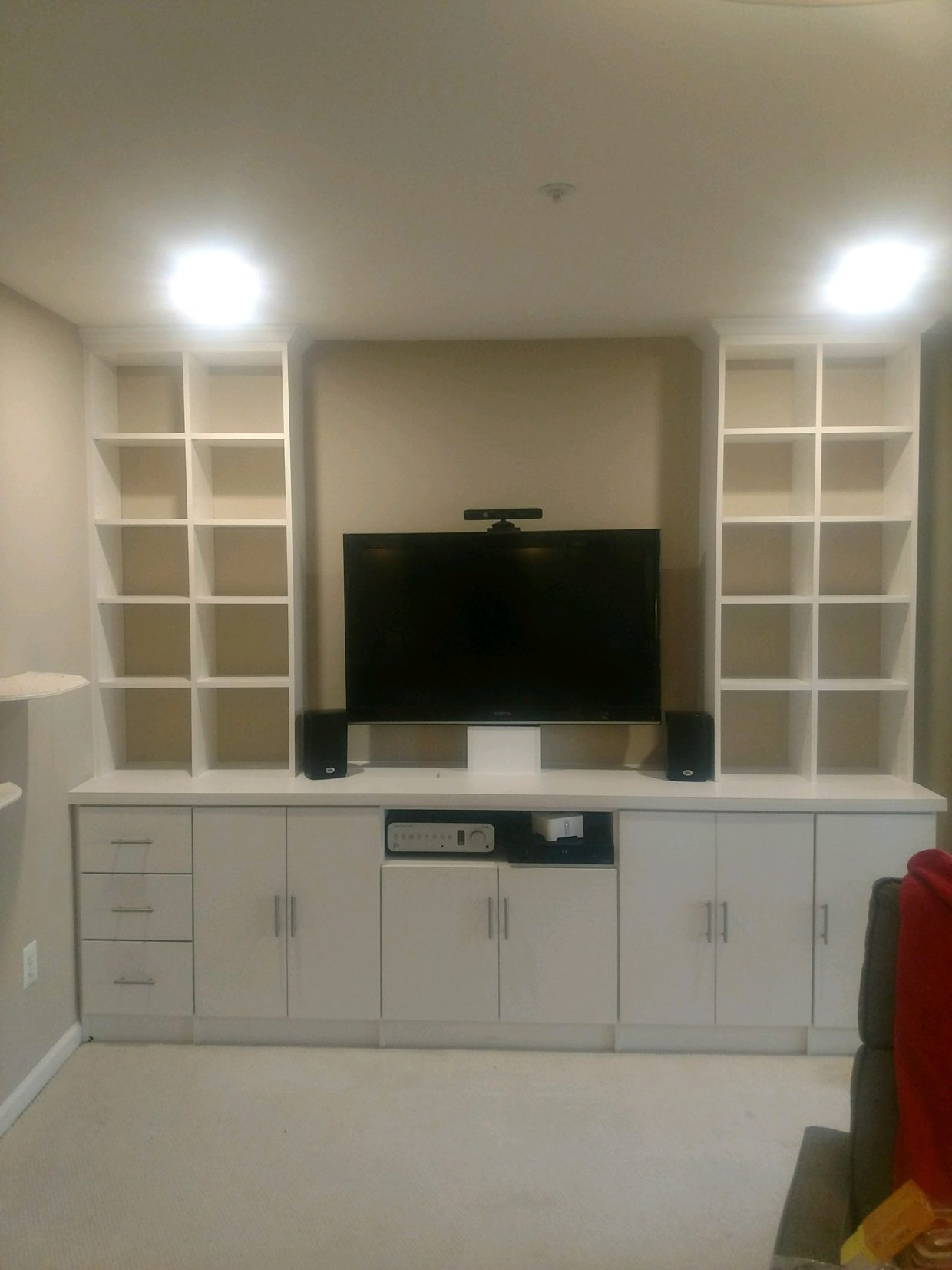 Basement TV Wall Unit