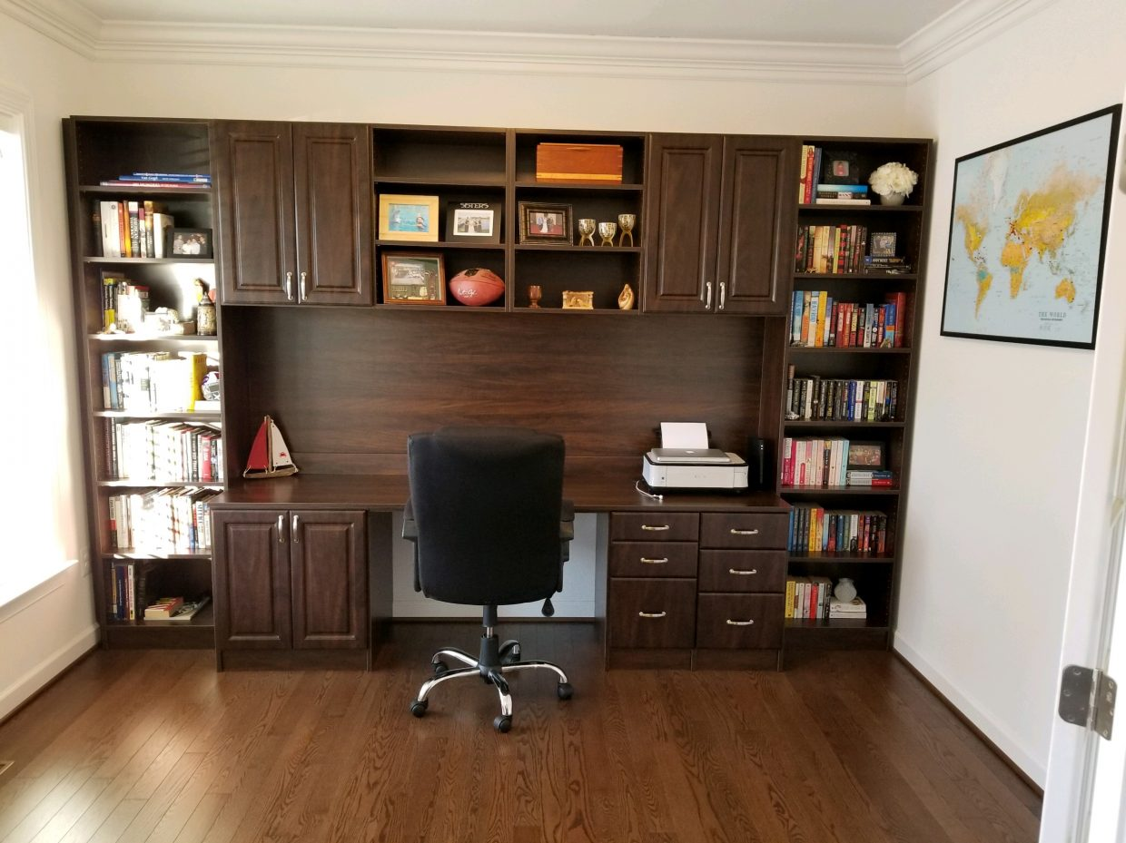 Chocolate Home Office with desk