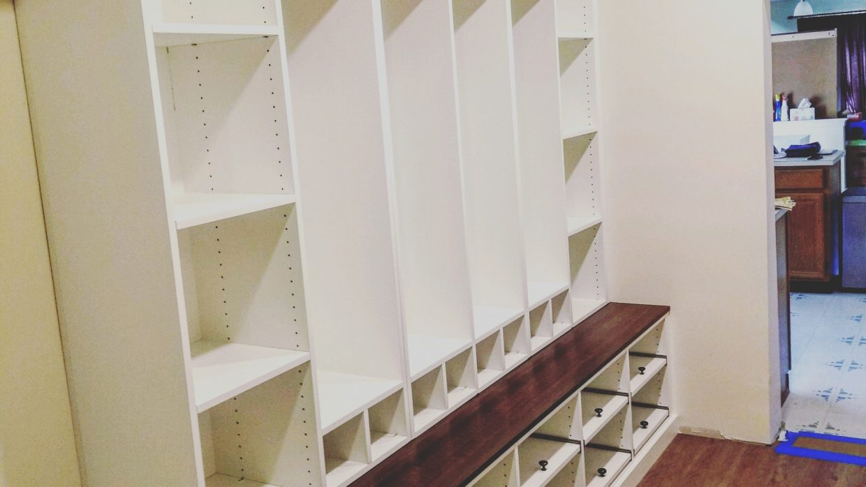Custom Entry Bench Storage Unit