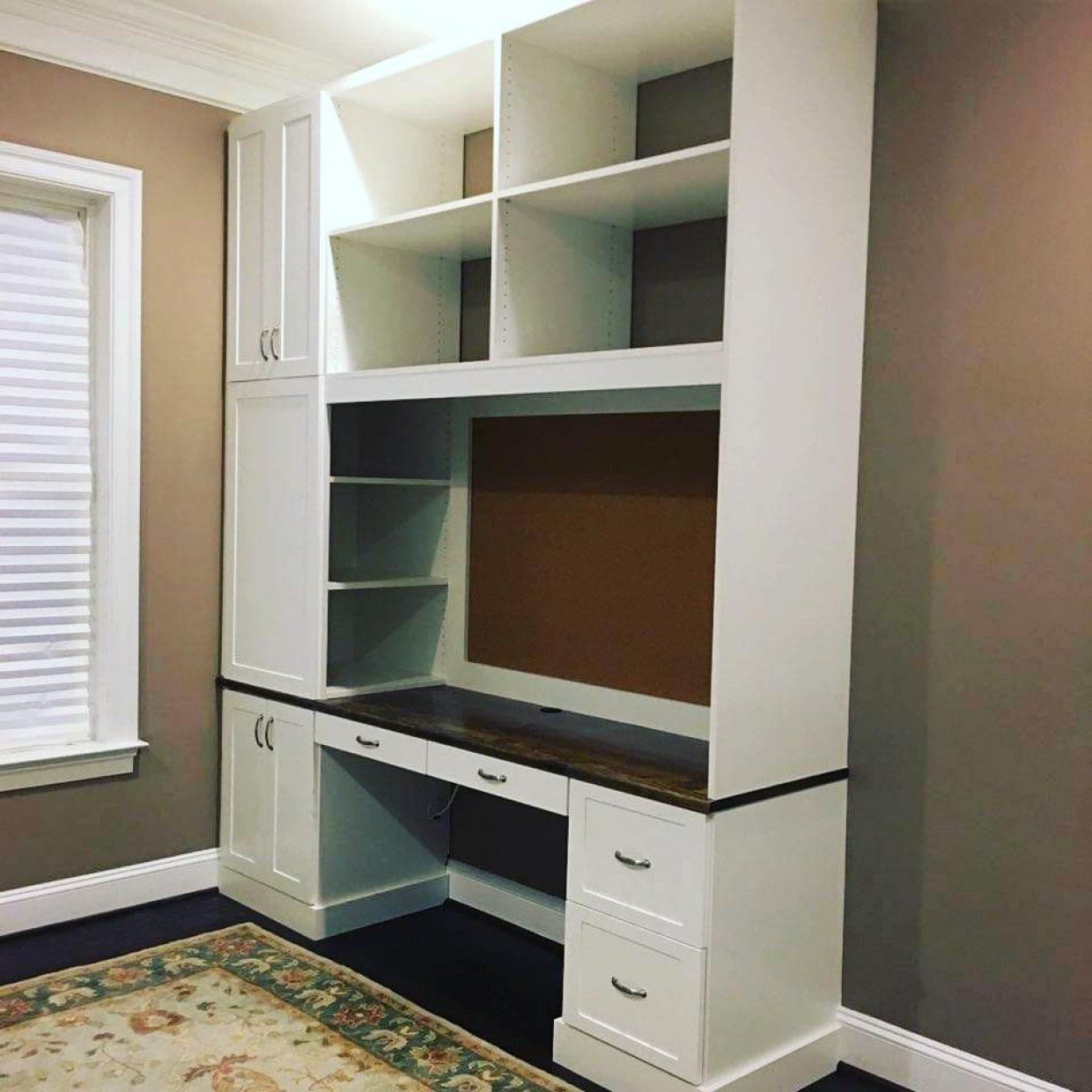 Home office desk unit