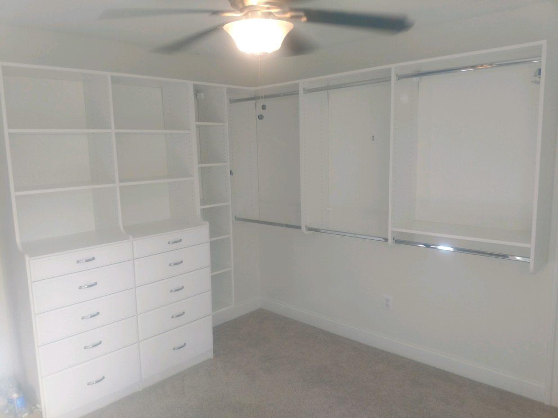 Double Hutch Master Closet in White