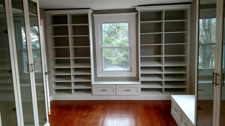 Master closet in white