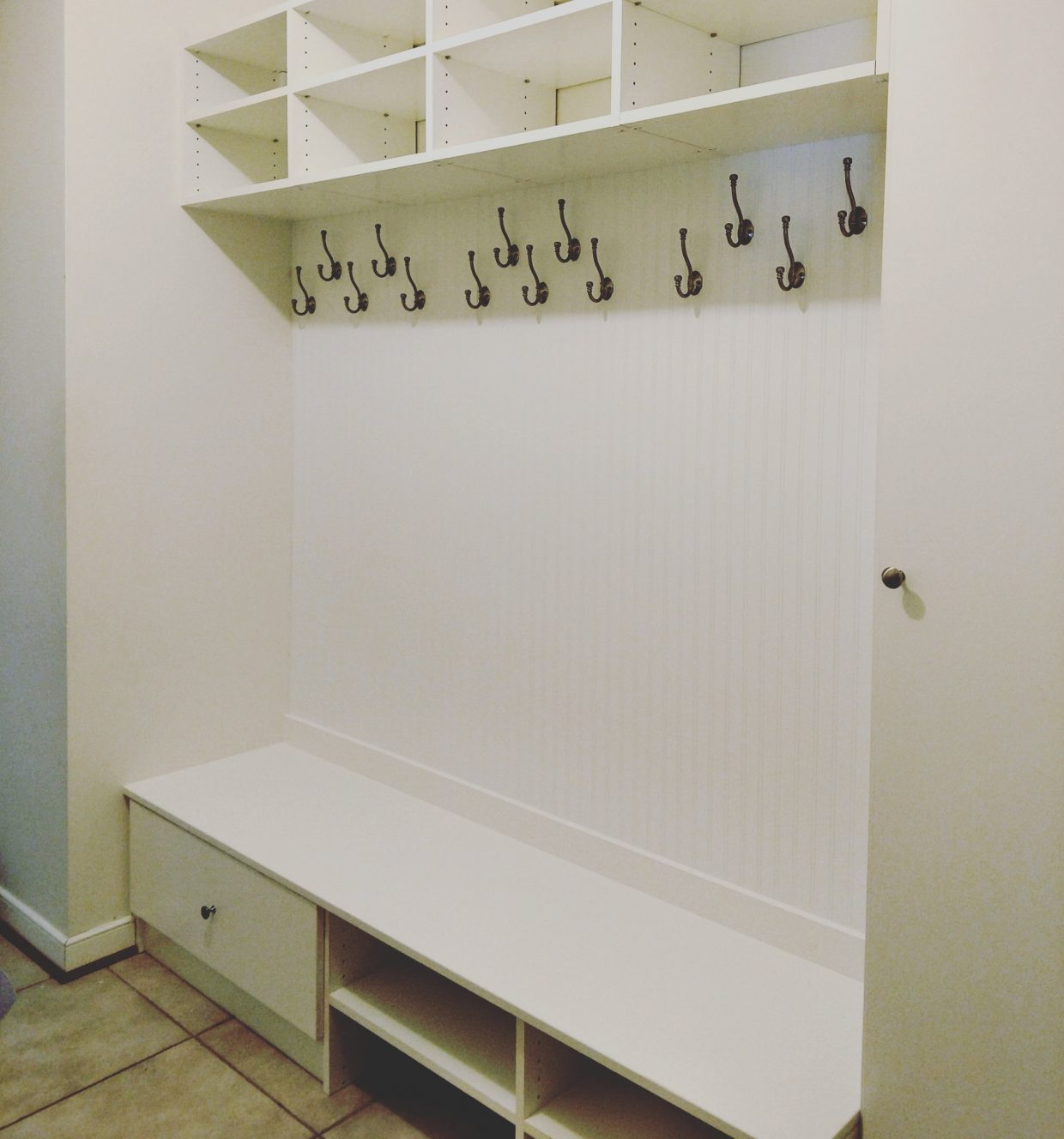 Mudroom entry bench