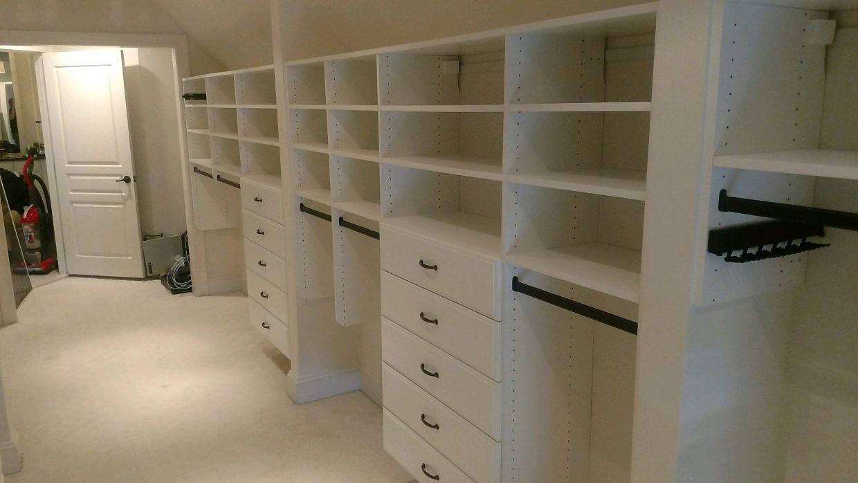 Slanted ceiling Master Closet