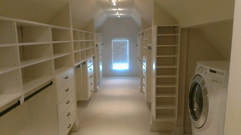 Slanted ceiling Master Closet 2