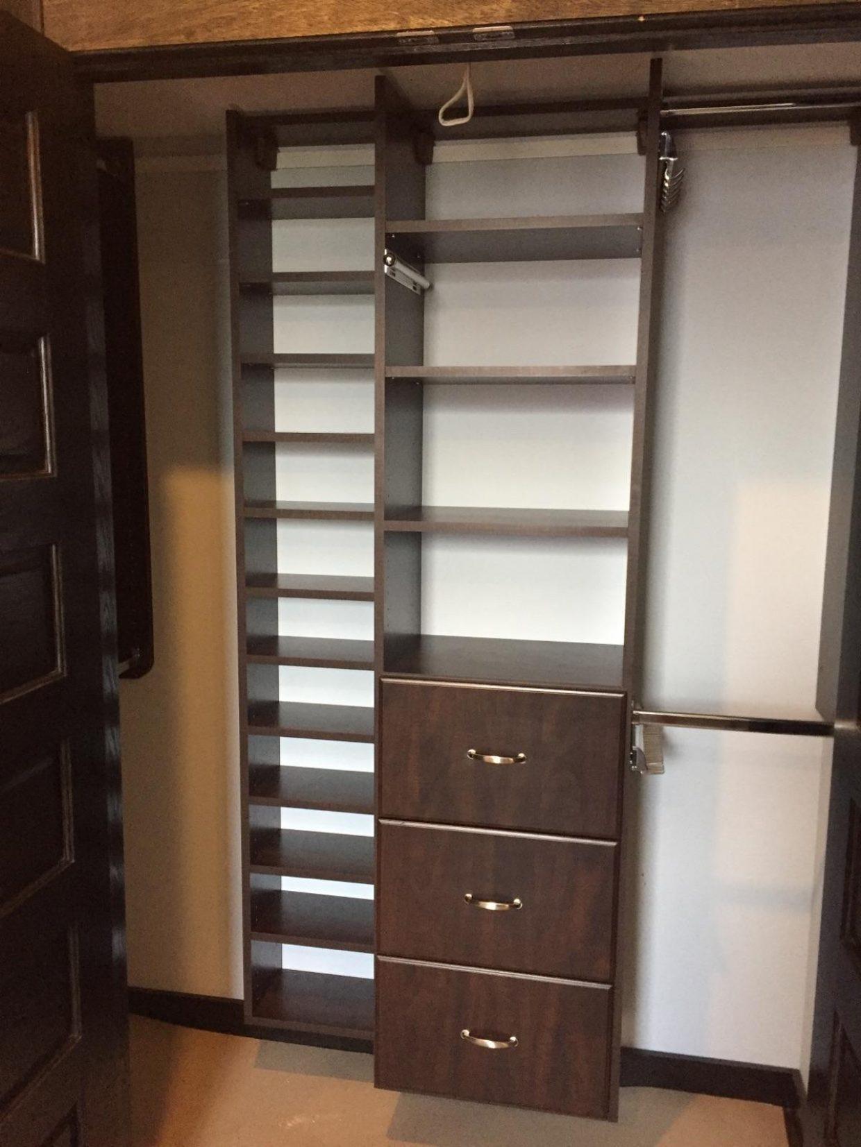 Chocolate Wall Mount Reach-In Closet