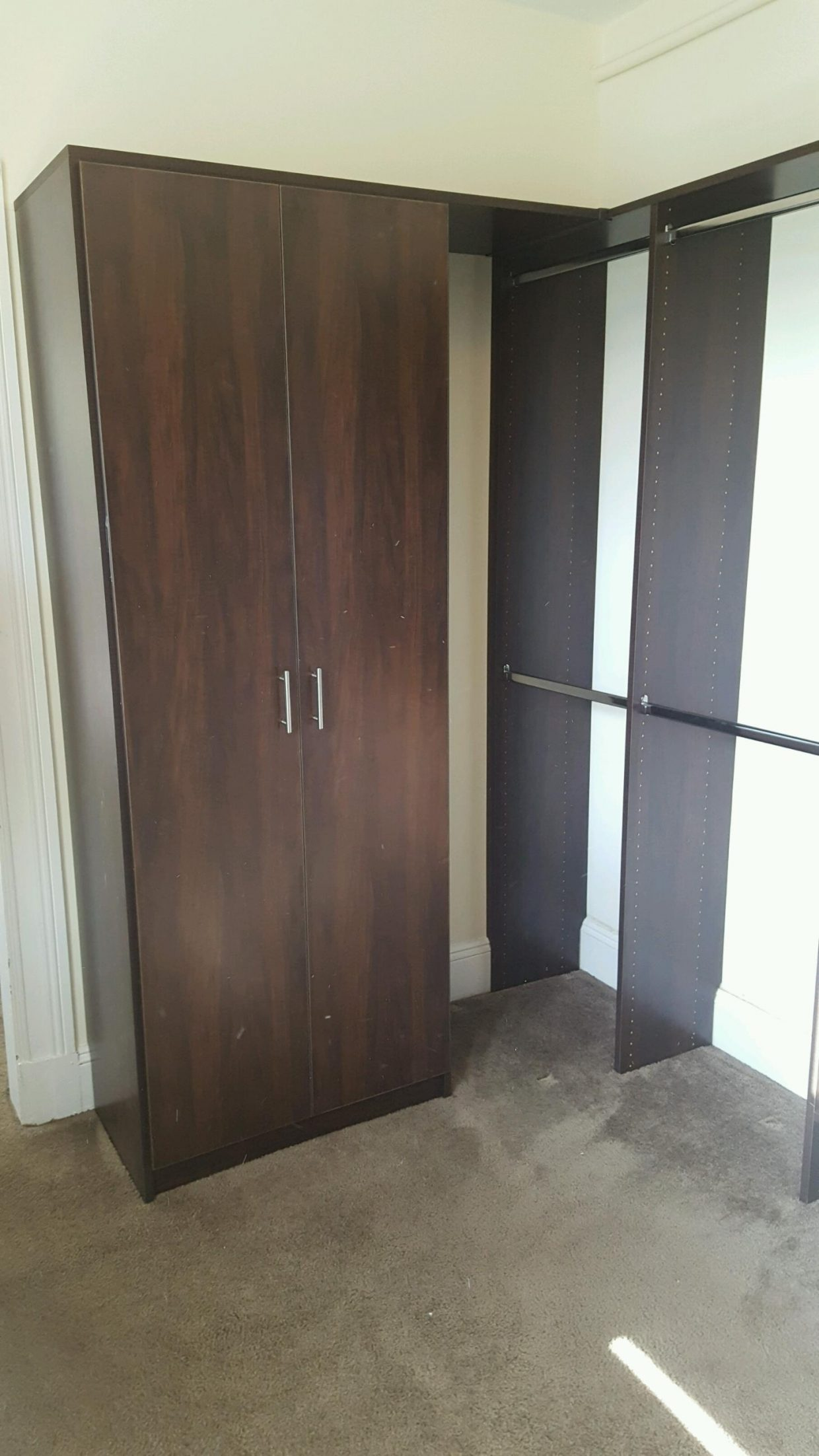 Chocolate color Walk-In Closet