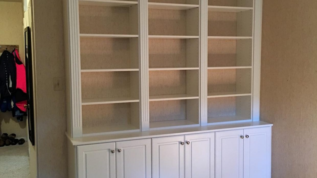 Custom White Den Wall Unit