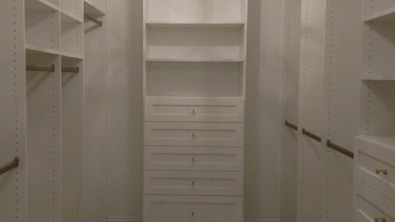 Floor mount closet