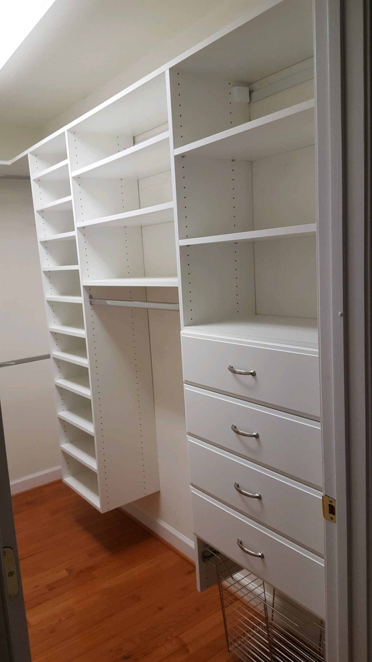 White Raised Panel Drawer fronts